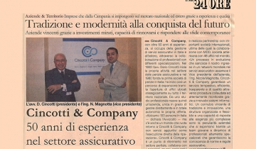 Cincotti & Company, a successful company The perfect balance between tradition and innovation in the insurance sector.